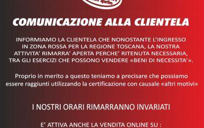 comunicazione alla clientela
